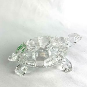 🐳 Lead Crystal Turtle Figurine Made in Italy